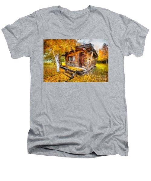Alaskan Autumn Men's V-Neck T-Shirt