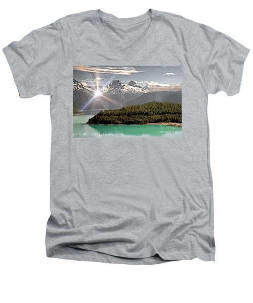 Alaskan Mountain Reflection Men's V-Neck T-Shirt
