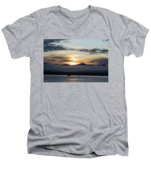 Alaskan Sun Rise Men's V-Neck T-Shirt