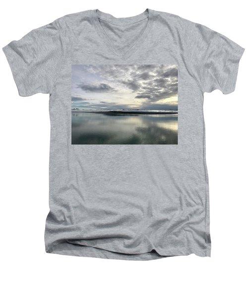 Alaskan Sunrise Men's V-Neck T-Shirt