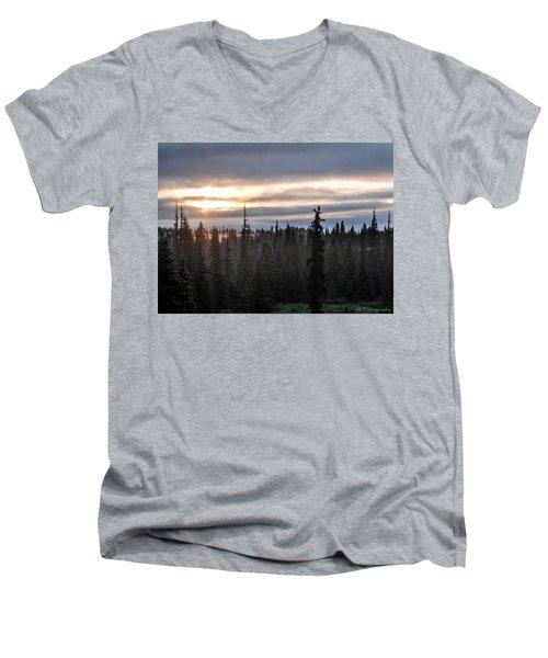 Alaskan Sunset Sunrise Men's V-Neck T-Shirt