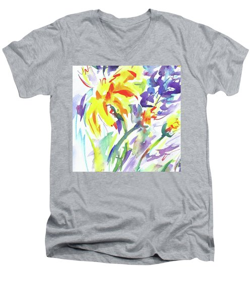 Alaskan Wildflowers Men's V-Neck T-Shirt