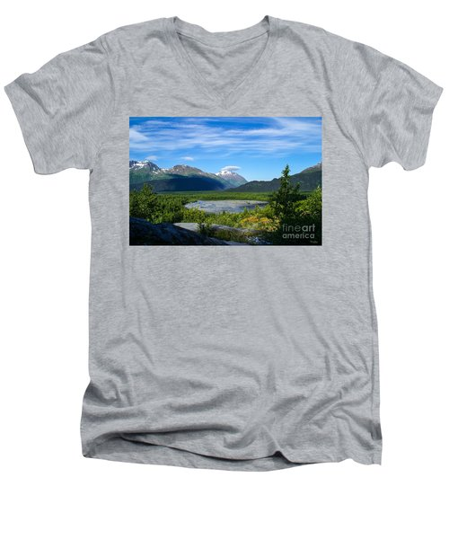 Alaska's Exit Glacier Valley Men's V-Neck T-Shirt