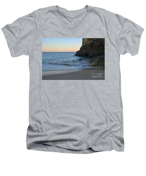 Albandeira Beach Welcoming Twilight 2 Men's V-Neck T-Shirt by Angelo DeVal