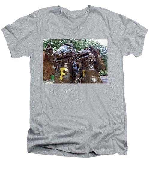 Albert And Alberta Men's V-Neck T-Shirt by D Hackett