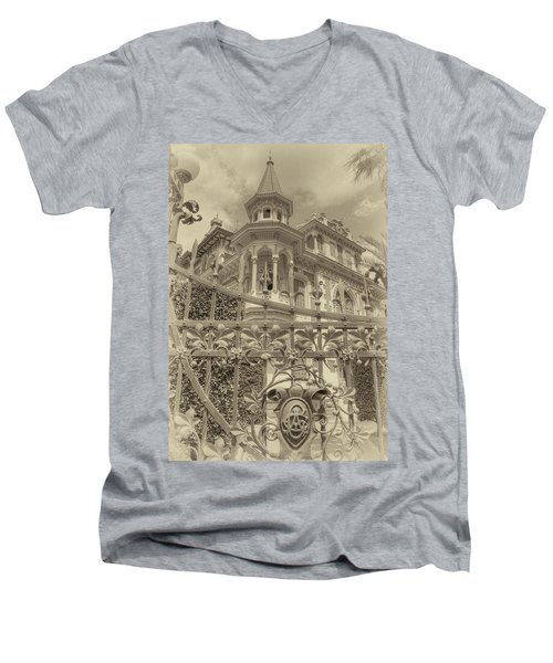 Albert Chamas Villa Men's V-Neck T-Shirt