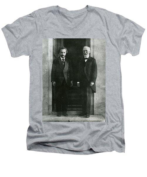 Albert Einstein And Hendrik Antoon Lorentz Men's V-Neck T-Shirt
