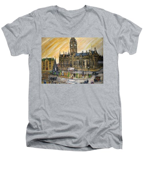 Albert Square Manchester 1900 Men's V-Neck T-Shirt