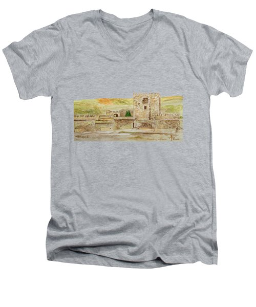 Alcazaba Of Almeria Men's V-Neck T-Shirt