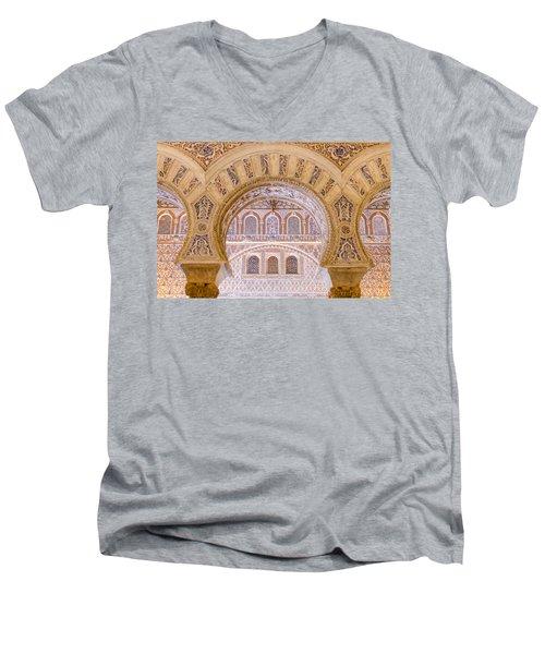 Alcazar Of Seville - Unique Architecture Men's V-Neck T-Shirt