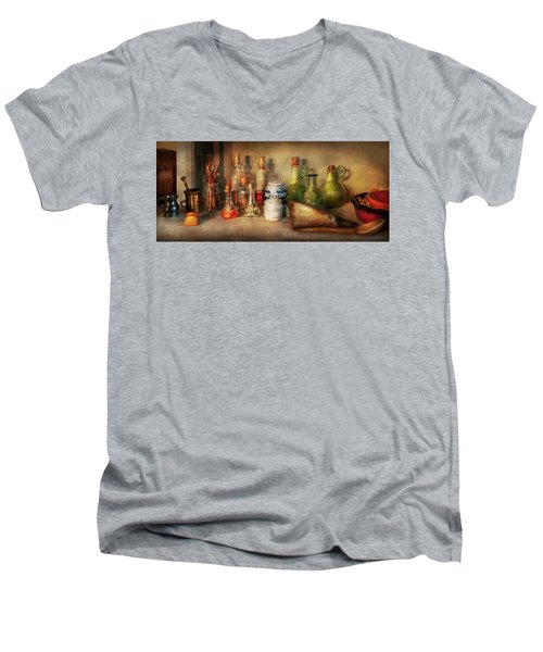 Men's V-Neck T-Shirt featuring the photograph Alchemy - The Home Alchemist by Mike Savad