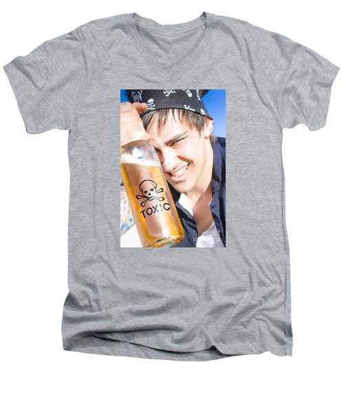 Men's V-Neck T-Shirt featuring the photograph Yo Ho Ho And A Bottle Of Rum by Jorgo Photography - Wall Art Gallery