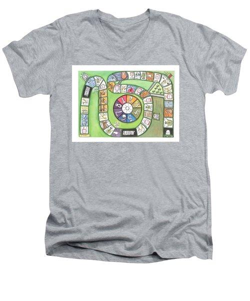 Alcoholism The Game Men's V-Neck T-Shirt