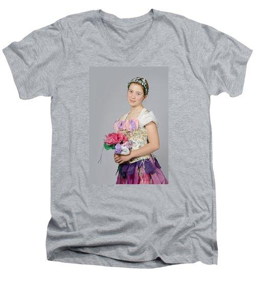 Alegra In Paper Floral Dress Men's V-Neck T-Shirt