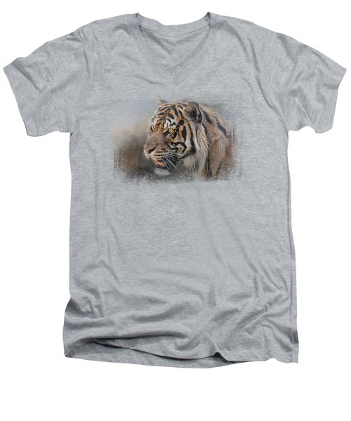 Alert Bengal Men's V-Neck T-Shirt