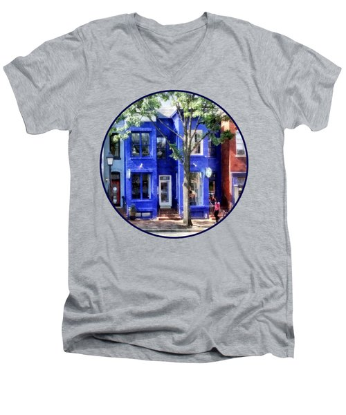Alexandria Va - Colorful Street Men's V-Neck T-Shirt