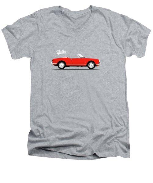 Alfa Giulia Spider 1964 Men's V-Neck T-Shirt by Mark Rogan