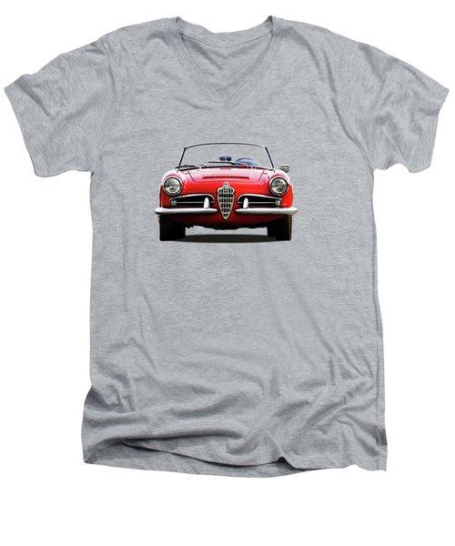 Alfa Romeo Spider Men's V-Neck T-Shirt by Mark Rogan