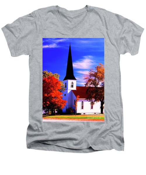 Algonquin Rd Church St Johns United  Men's V-Neck T-Shirt
