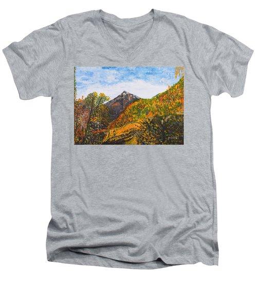 Algund View Men's V-Neck T-Shirt by Valerie Ornstein