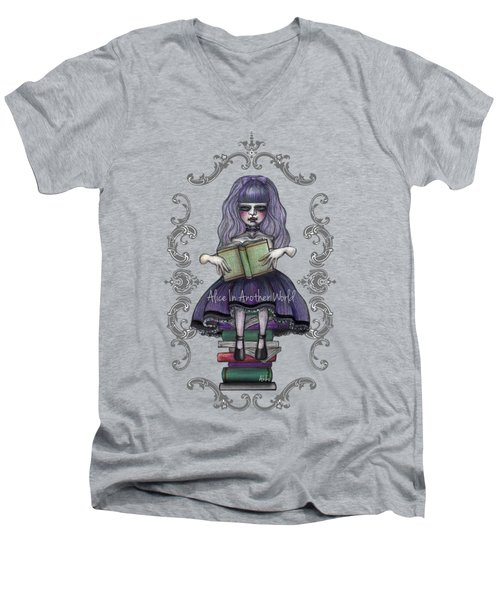 Alice In Another World 2 Men's V-Neck T-Shirt by Akiko Okabe