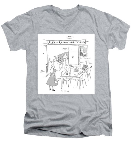 Alice In Responsibilityland Men's V-Neck T-Shirt