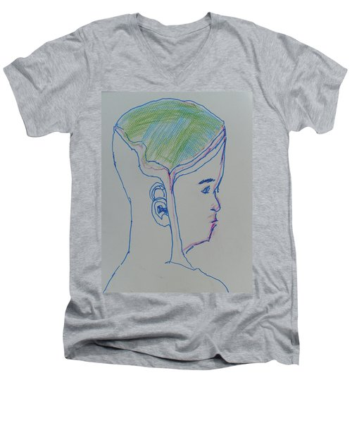 Alien Bob Men's V-Neck T-Shirt