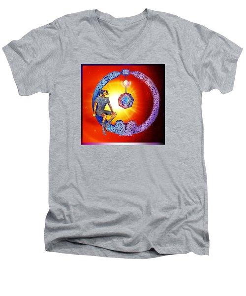 Alien  Dream Men's V-Neck T-Shirt by Hartmut Jager
