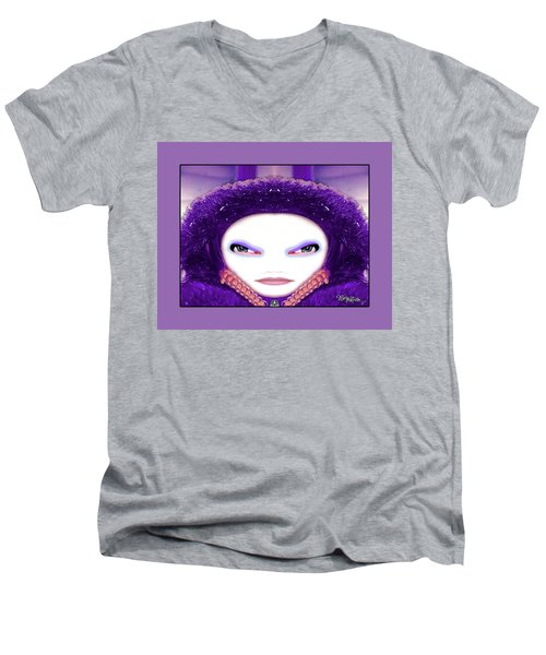 Men's V-Neck T-Shirt featuring the photograph Alien Mom #194 by Barbara Tristan