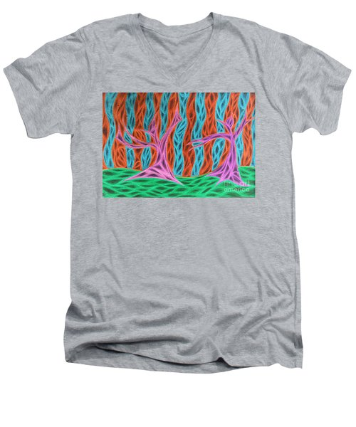 Alien Moon Dance Men's V-Neck T-Shirt by Jamie Lynn