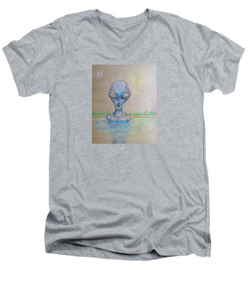 Alien Submerged Men's V-Neck T-Shirt by Similar Alien