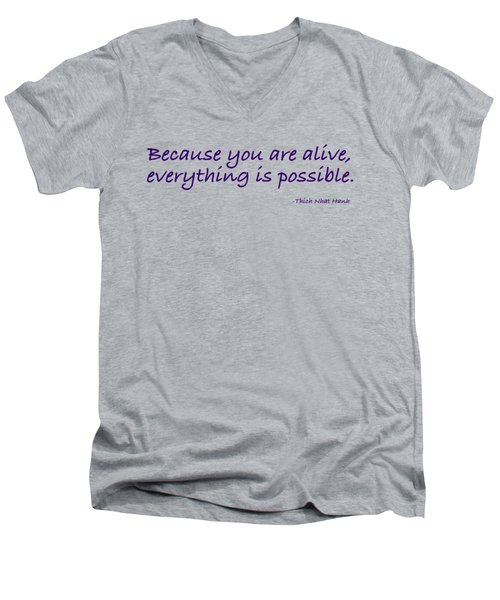 Alive Men's V-Neck T-Shirt