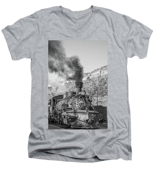 Men's V-Neck T-Shirt featuring the photograph All Aboard by Colleen Coccia