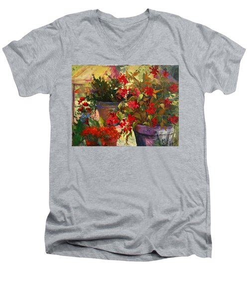 All About Red Men's V-Neck T-Shirt