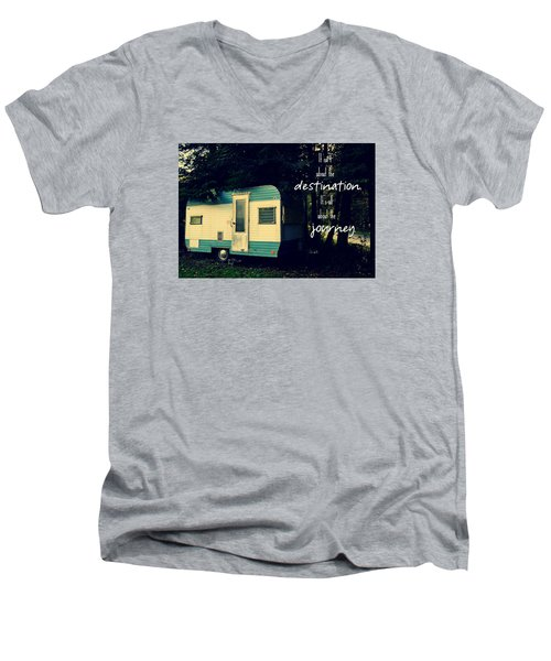 All About The Journey Men's V-Neck T-Shirt by Robin Dickinson