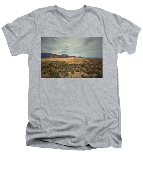 Men's V-Neck T-Shirt featuring the photograph All Day by Mark Ross