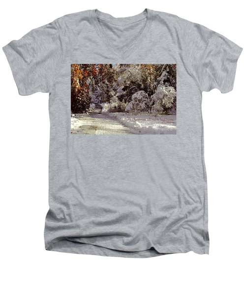 All Roads Lead Home Men's V-Neck T-Shirt by Sabine Jacobs