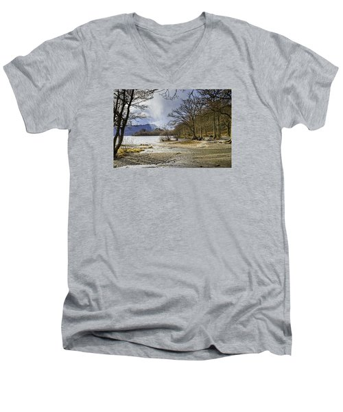 Men's V-Neck T-Shirt featuring the photograph All Seasons At Loch Lomond by Jeremy Lavender Photography
