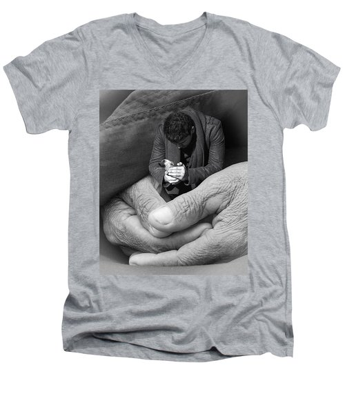 All That Is Precious Men's V-Neck T-Shirt by I'ina Van Lawick