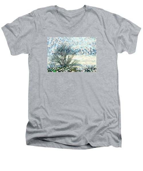 All The Leaves Have Gone Men's V-Neck T-Shirt by Ronda Broatch