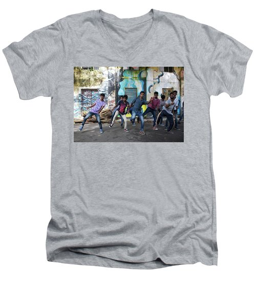 All The Moves Men's V-Neck T-Shirt