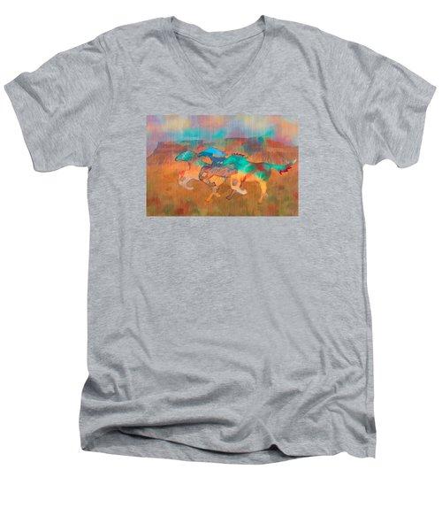 All The Pretty Horses Men's V-Neck T-Shirt by Christina Lihani