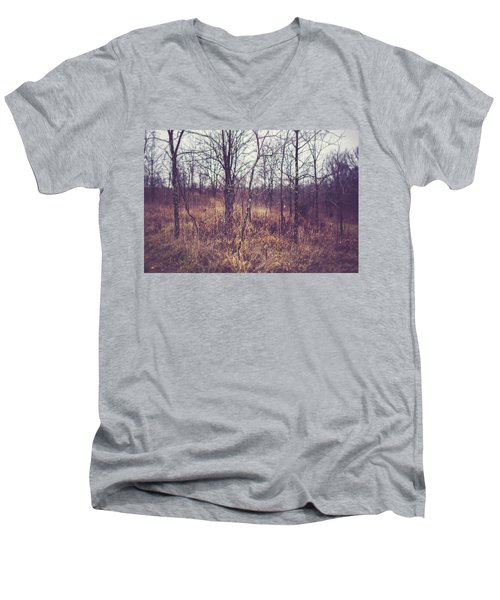 Men's V-Neck T-Shirt featuring the photograph All The While by Shane Holsclaw