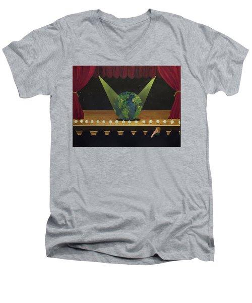 All The World's On Stage Men's V-Neck T-Shirt