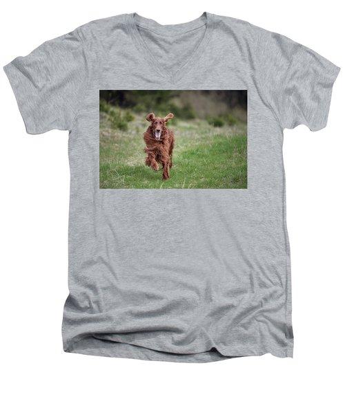 Allegro's March Men's V-Neck T-Shirt