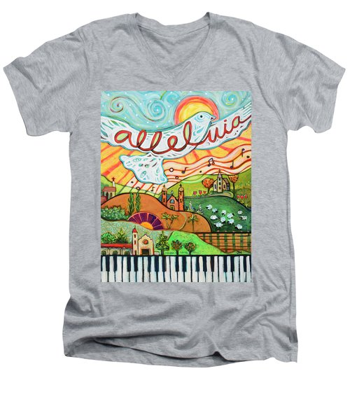 Alleluia Men's V-Neck T-Shirt