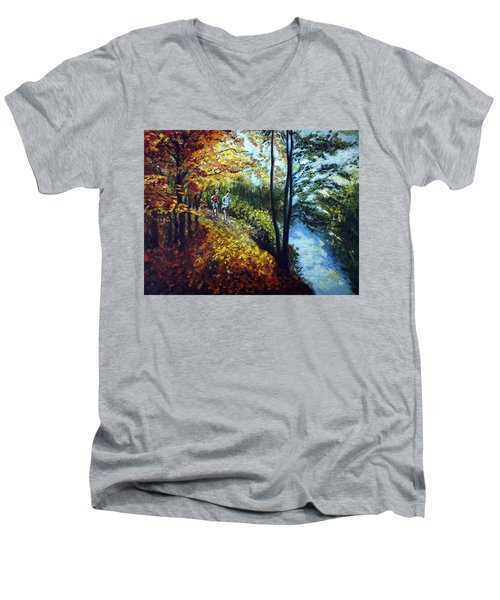 Alley By The Lake 1 Men's V-Neck T-Shirt