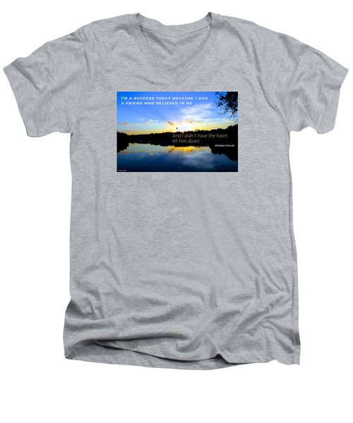 Men's V-Neck T-Shirt featuring the photograph Allies by David Norman