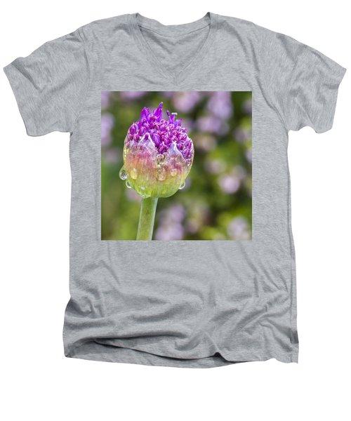 Allium Bud  Men's V-Neck T-Shirt