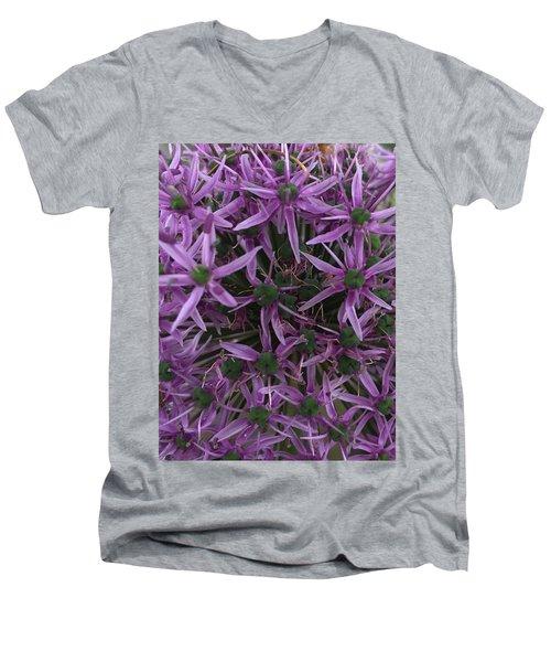 Allium Stars  Men's V-Neck T-Shirt by Kathy Spall